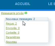 Notification de nouveau message